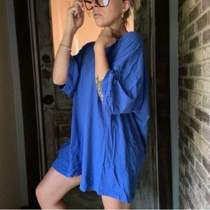 Vintage soft blue oversized tee